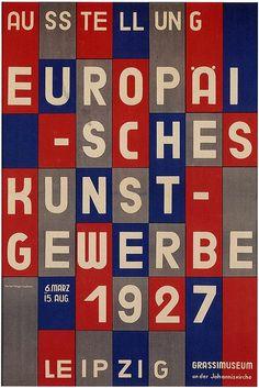 European exhibition of arts & crafts, Leipzig (1927)   Design by Herbert Bayer
