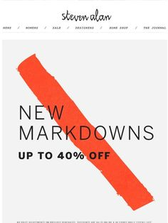 more markdowns! up to 40% off + free shipping - Steven Alan