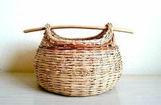 Picnic Basket Shopping Basket Storage Basket Hand by TeneBasket, $60.00
