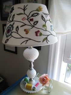 Hobnail Milk Glass Lamp.  I got two of these for $3.49.