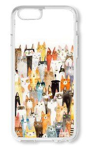 Amazon.com: iPhone 6 Case AOFFLY® Cats Pattern Clear Hard Case for Apple iPhone 6 4.7Inch: Cell Phones & Accessories