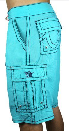 I'm All about color, and these blue True Religion shorts are a perfect  example of fashionable meets fun