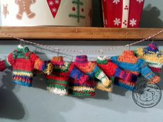 Mini Sweater Ornament - pattern by Pat  Blair