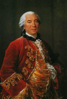Georges-Louis Leclerc, Comte de Buffon  (7 September 1707 – 16 April 1788)  French naturalist, mathematician, cosmologist, and encyclopedic author.  by François-Hubert Drouais