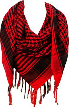 Amtal Soft & Silky Houndstooth Square Scarf with Tassels - Available in 6 Colors