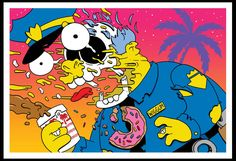Les illustrations pop et décalées de Matt Gondek Simpsons Drawings, Simpsons Art, Futurama, Illustrations Pop, Cartoon Junkie, Photo Polaroid, Trill Art, Simpsons Characters, Dope Wallpapers