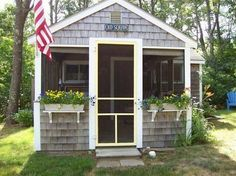 208 Sq. Ft. Orleans Cottage Hits The Market For $117,900.  Cape Cod Tiny House. Beach House by the Seashore.  MicroHouse.