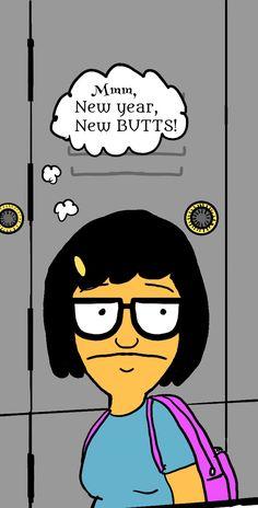Tina ... Bobs Burgers Funny, Tina Belcher, Puppet, Bart Simpson, Fangirl, Lunch Box, Cartoons, Entertainment, Humor