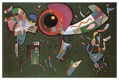 Autour du cercle, huile sur toile de Wassily Kandinsky (1866-1944, Russia)