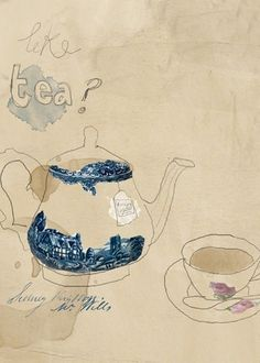 Join DrawMyDinner with AccessArt and The Big Draw http://www.accessart.org.uk/join-drawmydinner-years-big-draw-accessart/  Like Tea - art and textiles by   tabitha emma