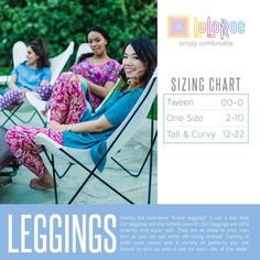 One Size Leggings To View All Items In Inventory Simply Click The Sizing Chart