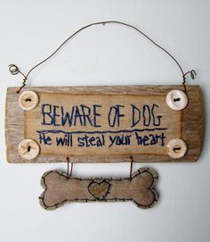 PRIMITIVE Sign for MALE DOG On Reclaimed Wood by CornCobCove, $16.50