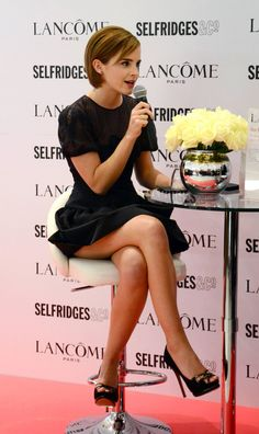 Emma Charlotte Duerre Watson born 15 April, 1990 (age in Paris, France. She is famous actress, model and activist best known as Emma Watson. Emma Watson Stil, Emma Watson Legs, Photo Emma Watson, Lucy Watson, Emily Watson, Little Black Dress Outfit, Black Dress Outfits, Emma Watson Beautiful, Emma Watson Sexiest