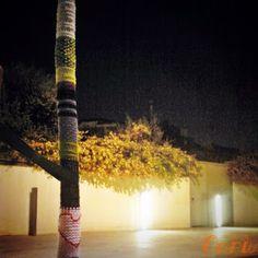 árbol tejido en riera de l'escorxador, l'hospitalet de llobregat (barcelona)
