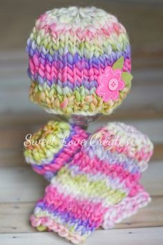 Another adorable hat and leg warmer set