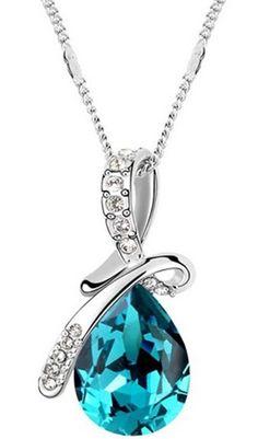Swarovski Crystal Teardrop Necklace ✿⊱╮