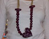 Necklace of terracotta heart and beads Terracotta, Etsy Seller, Jewelry Making, Beads, Trending Outfits, Unique Jewelry, Handmade Gifts, Creative, How To Make