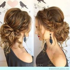 Image result for boho messy updo