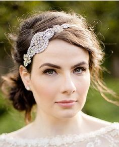 Rhinestone and Pearl Bridal Headband by SpecialTouchBridal on Etsy