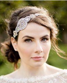 Rhinestone and Pearl Bridal Headband by SpecialTouchBridal on Etsy
