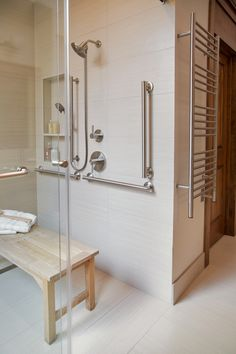 Before After An Accessible Master Bathroom Is Created Using Universal Design Principles
