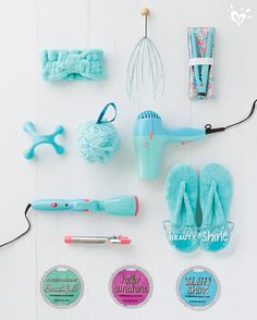 Spa Accessories: The Justice Be-YOU-ty Shop features Conair beauty . Justice Accessories, Spa Accessories, Mini Things, Girly Things, Justice Store, Justice Kids, Justice Makeup, Accessoires Barbie, Mode Kawaii