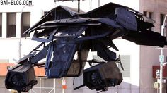 The Dark Knight Rises brings us a new toy for Batman to play besides his Batpod: The Bat. This VTOL aircraft is one seriously heavily armed sucker, ...