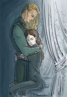 Tamlin and Feyre [PhantomRin - art & illustration]