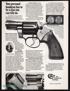 1977 COLT Detective Special Revolver PRINT AD : Other Collectibles at GunBroker.com