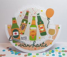 Marianne Design, Masculine Cards, Sweet Sixteen, Daisy, December, Birthday Cake, Inspirational, Ideas, Beer