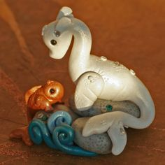 Seadragon and Little Fishy Friend by BGobbleArt on Etsy,