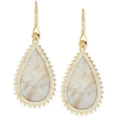 Eddie Borgo White Lace Agate Teardrop Earrings (825 BRL) ❤ liked on Polyvore featuring jewelry, earrings, brinco, eddie borgo, gold, agate earrings, eddie borgo earrings, tear drop earrings and french hook earrings