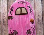 Tiny fairy door..hand painted