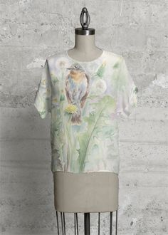 Floral Tee #floral #wildlife #watercolor #printed #tee #fashion #trendy #autumn #spring2018
