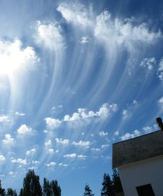 A classic display of altocumulus with virga over Port Townsend, Washington, US.