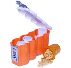 Medicine Bottle Storage Containers, good idea since we have to keep ours locked up