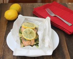 Lemon Dill Salmon in Parchment