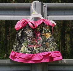 Girls Camo Cutie Camouflage Pillowcase Dress with matching ruffled bloomers baby infant on Etsy, $30.00