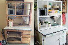 my hoosier cabinet remodel by @nataliecreates // www.nataliecreates.com #hoosiercabinet #hoosier #diy