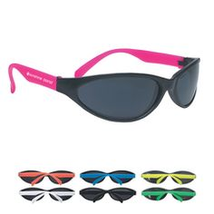 9e58d163c16 Wave Rubberized Sunglasses - Promotional Sunglasses personalized with your  custom imprint or logo.