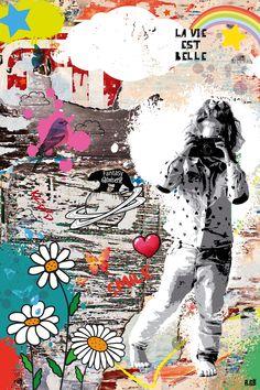 IMPRESSION-SUR-TOILE-ou-PAPIER-Village-Peruvienne-Affiche-Decoratif-Poster