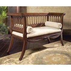 Butler Specialty Masterpiece English Settee Bench in Antique Cherry Living Room Bench, Living Room Furniture, Apartment Furniture, Dining Bench, Egyptian Furniture, Bench With Storage, Brown Wood, Furniture Decor, Unique Furniture