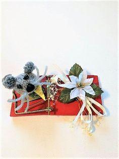 Julemus Stud Earrings, Christmas, Jewelry, Xmas, Jewlery, Bijoux, Ear Gauge Plugs, Weihnachten, Jewerly