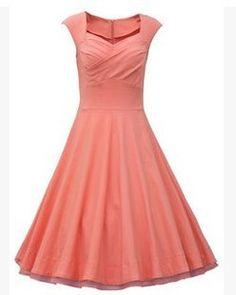 Red Vintage Dress - Vintage dresses- Vintage and Dresses