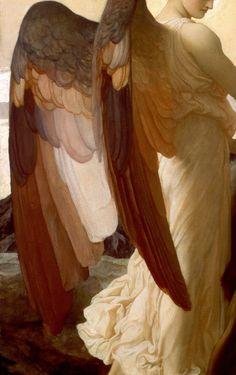 LEIGHTON Frederic Elijah in the Wilderness detail 1878 Oil on canvas x cm Walker Art Gallery Liverpool UK oldart Renaissance Kunst, Renaissance Paintings, Art And Illustration, Walker Art, Classical Art, Angel Art, Religious Art, Aesthetic Art, Traditional Art