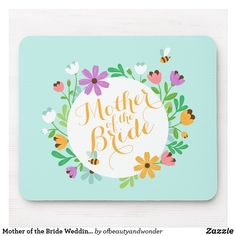 Shop Elegant Happy Mother's Day Floral Wreath Mousepad created by ofbeautyandwonder. Wedding Pins, Wedding Groom, Happy Mothers Day, Happy Valentines Day, Wedding Coasters, Mr And Mrs Wedding, Custom Coasters, Simple Wedding Invitations, Love