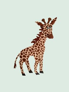Giraffe. Stuffed animal peel and stick reusable wall decal. Made of fleece, stuffed with fiber fill and backed with a vinyl peel and stick