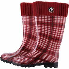 Florida State Seminoles (FSU) Women's Rain Boots - Garnet