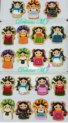 Michelle Martinez-Stark's media content and analytics Mexican Birthday Parties, Mexican Fiesta Party, Fiesta Theme Party, Fancy Cookies, Iced Cookies, Royal Icing Cookies, Mexican Cookies, Mexican Themed Weddings, Cookie Designs