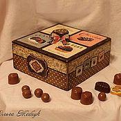 """Для дома и интерьера ручной работы. Ярмарка Мастеров - ручная работа Коробочка для конфет """"Шоколадница"""". Handmade."""